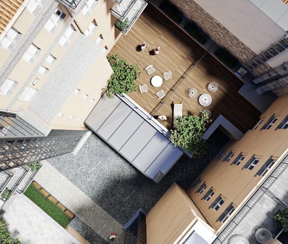 Rezidence Myslíkova 8 vnitroblok