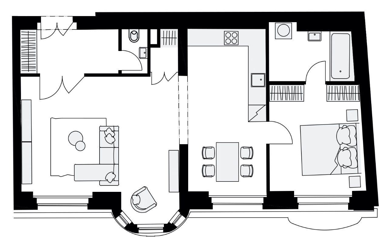 Rezidence Mlynářská 4, byt B2