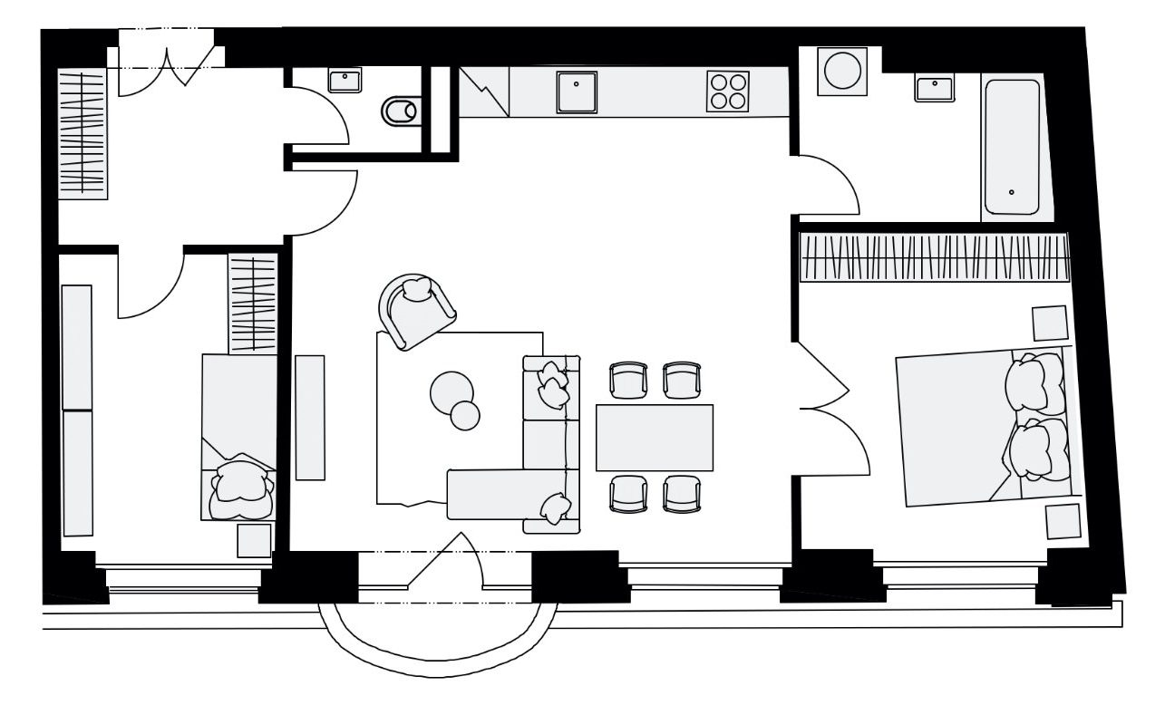 Rezidence Mlynářská 4, byt B3