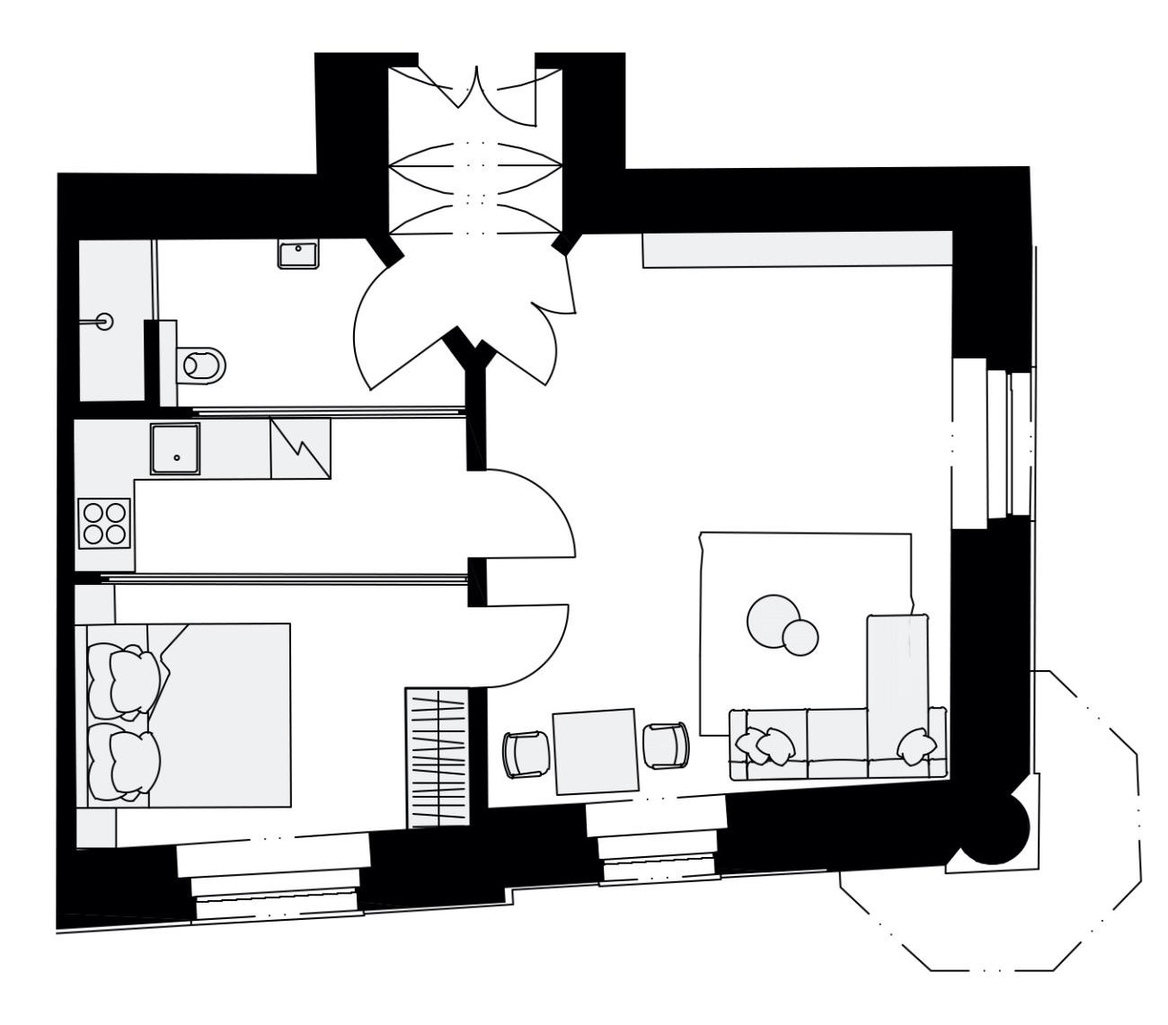 Rezidence Křižíkova 457, E1