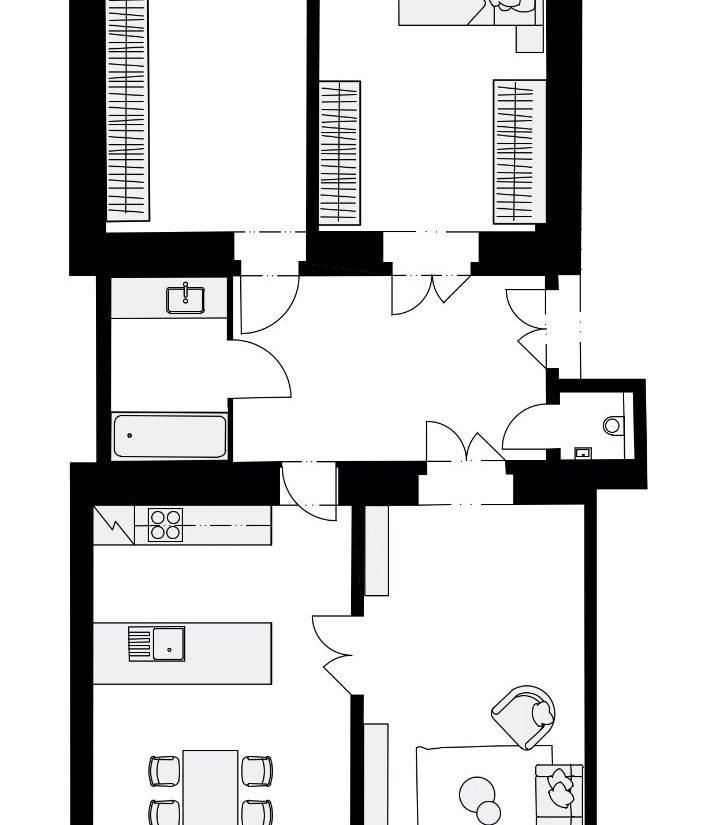 Rezidence Křižíkova 457, E12