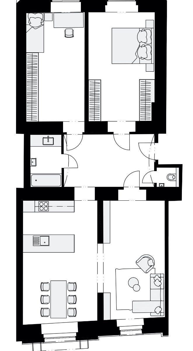 Rezidence Křižíkova 457, E3
